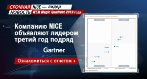 NICE — лидер WEM Magic Quadrant 2019 года